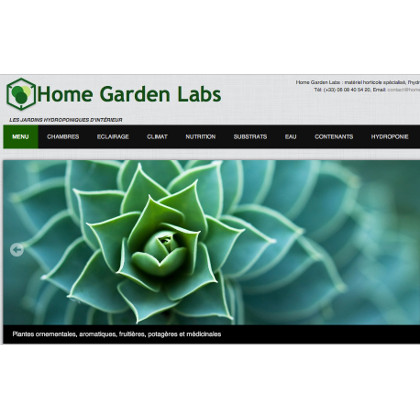 site web home garden labs