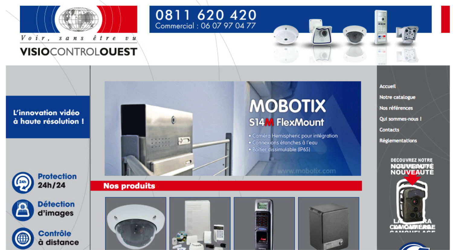 site web visio control ouest
